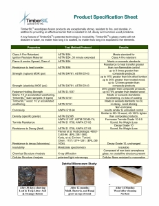 TimberSIL Specification Sheet